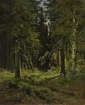 Лесной пейзаж - 1878 год