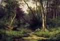 Лесной пейзаж с цаплями - 1870 год