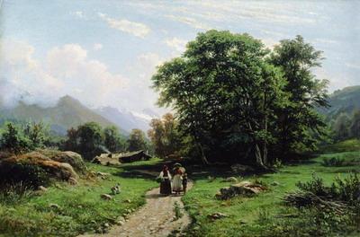 Швейцарскй пейзаж 1866