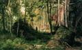 Пейзаж с охотником. Остров Валаам - 1867 год