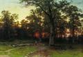 Лес вечером - 1868 год