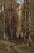 Лесной пейзаж - 1874 год