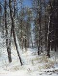 Зима в лесу (Иней) - 1877 год