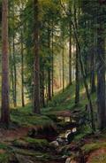 Ручей в лесу (На косогоре) - 1880 год